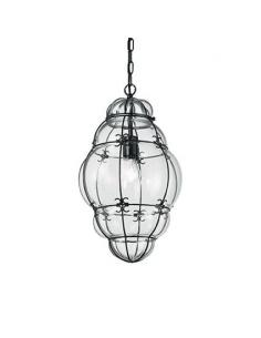 Ideal Lux 131795 Amphora SP1 Big suspension Lamp blown glass