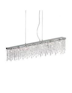 Ideal Lux 098739 Jade Clear SB7 suspension Lamp with pendants
