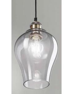 Perenz 6436 FU Lampada a Sospensione ottone brunito vetro fumè