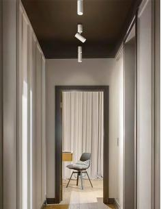 Perenz 6400 B LC Faretto LED singolo in metallo verniciato bianco