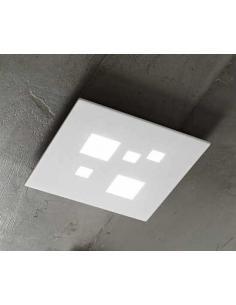 Perenz 6390 B LN Plafoniera metallo verniciato bianco e acrilico