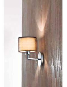 Applique polished chrome with fabric shade