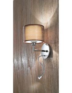 Perenz 5977 Wall-Lamp Polished Chrome Fabric Shade