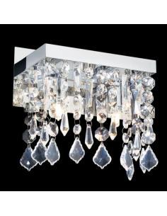 Ideal Lux 074511 Plaza AP2 TRASPARENTE Lampada da parete