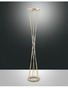 Fabas Luce 3369-10-225 Twister floor Lamp, matt Gold