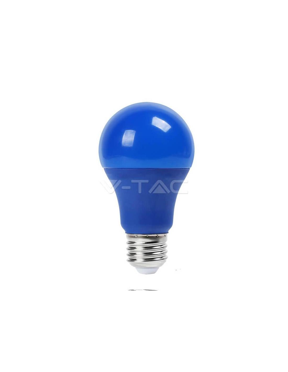 V tac sku7344 lampadina led e27 9w blu for Lampadina led blu