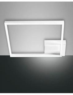 Fabas 3394-45-102 Bard Lampadario a Sospensione Rettangolare Bianco