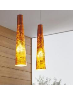 Metal Lux 142511.67 Oro Fire Lampada a sospensione Marrone