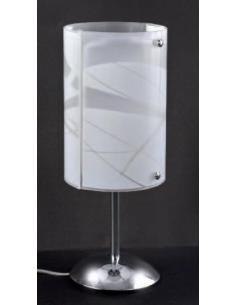 LORA G7065LWH Lampada da tavolo 2 vetri bianco