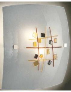 LORA 653 ceiling Lamp murano amethyst