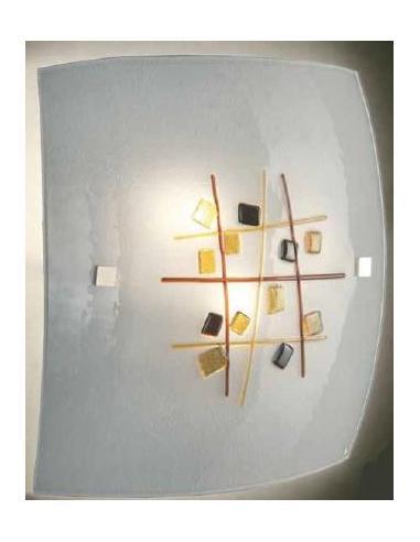LORA 653 Lampada a soffitto di murano ametista