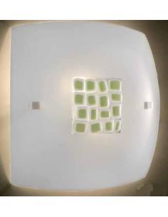 LORA 554 Lampada da soffitto murano arancio