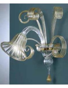 L.O.R.A. 3066/AP1 CRIST+COL Lampada da parete RIGEL