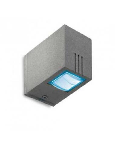 FUSION LED parete 3W BLU IP54 Allum
