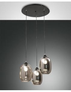 Fabas Luce 3519-47-126 Infinity Lampada a sospensione 3L Fumè
