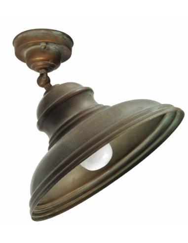Plafoniera con snodo, ottone antichizzato ramato