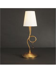 Mantra 3545 Paola Gold Lampada da tavolo 1L Oro