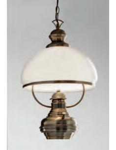 SUSPENSION BURNISHED BRASS C/GLASS-AND-SWITCH