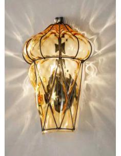 Sylcom 1443/A INOX Applique Lampada veneziana cristallo Murano