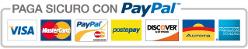 Paga comodamente con la tua carta o il tuo conto PayPal